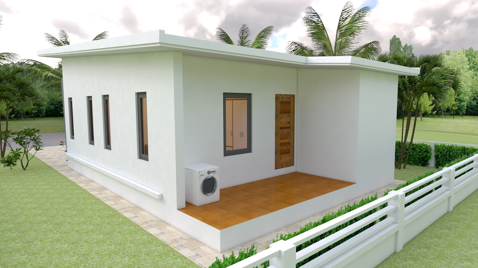 Small Family House 7x12 Meter 23x40 Feet 2 Beds 3