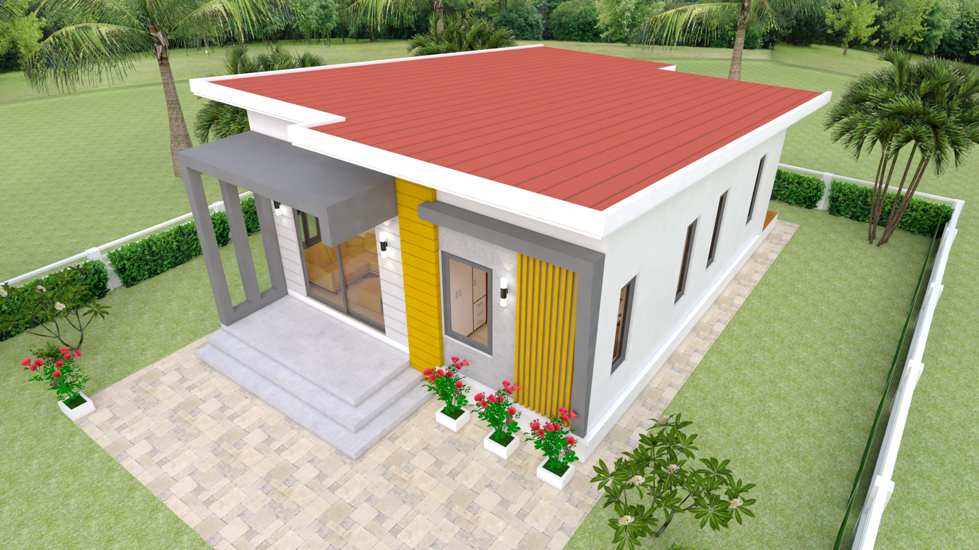 Small Family House 7x12 Meter 23x40 Feet 2 Beds 4