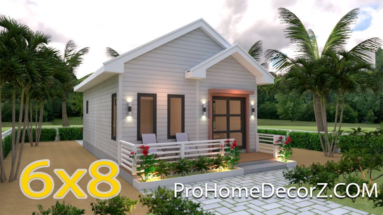 Small House Designs 6x8 Gable Roof