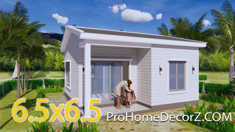 Small House Layout 21x21 Feet 6.5x6.5m