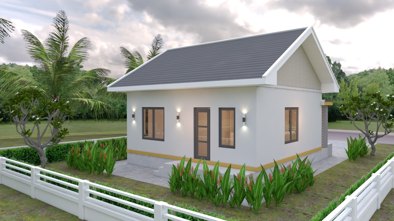 Small House Layout 7.5x8.5 Meter 25x28 Feet 2 bed 2