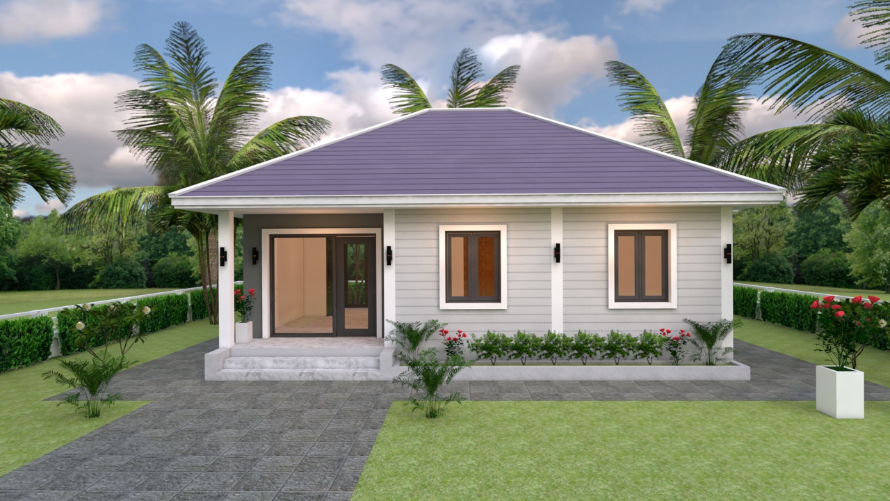 Small House Living 9x7 Meter 30x23 Feet 2 Beds 3