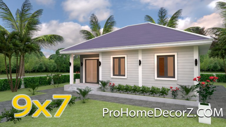 Small House Living 9x7 Meter 30x23 Feet 2 Beds