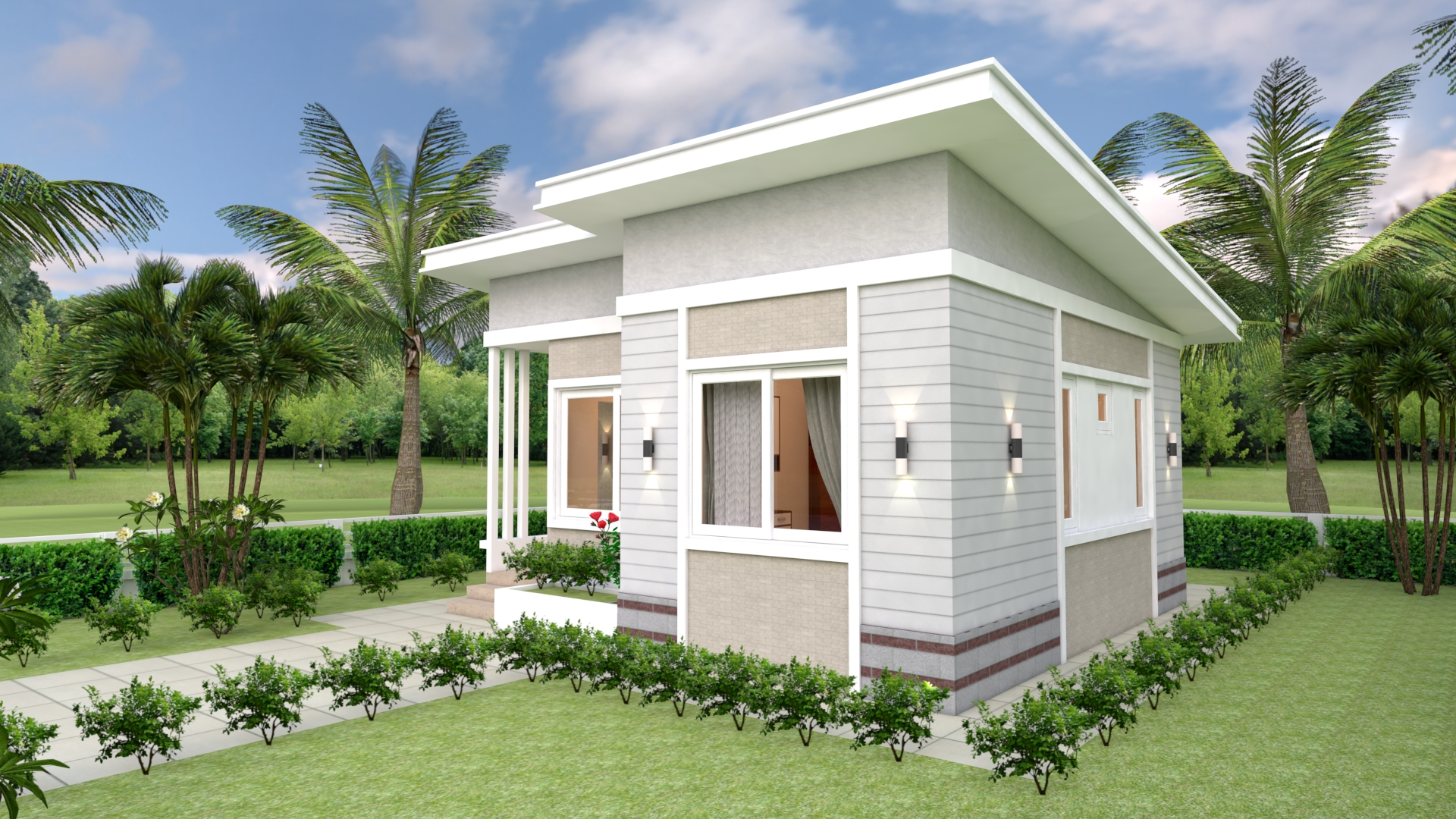 Small Luxury Homes 7x7 Meter 24x24 Feet 2 Beds 3
