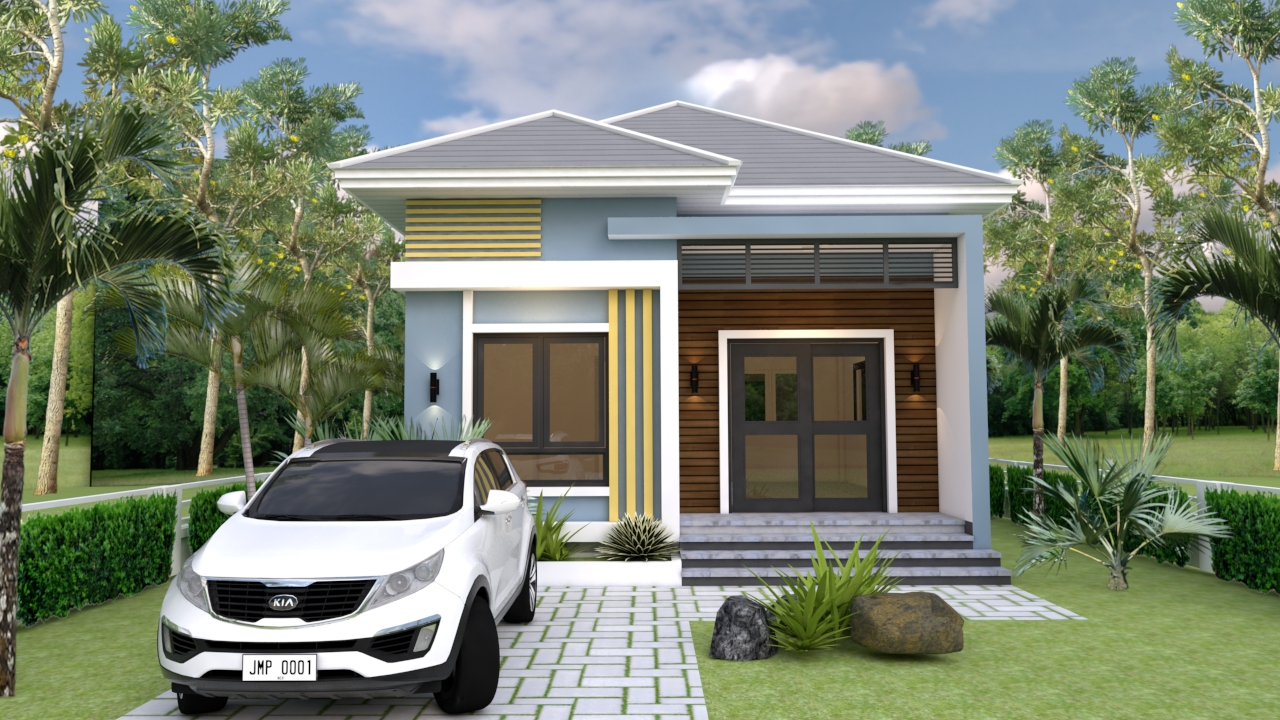 Small Mansion 6.5x8.5 Meter 22x28 Feet Hip roof 2