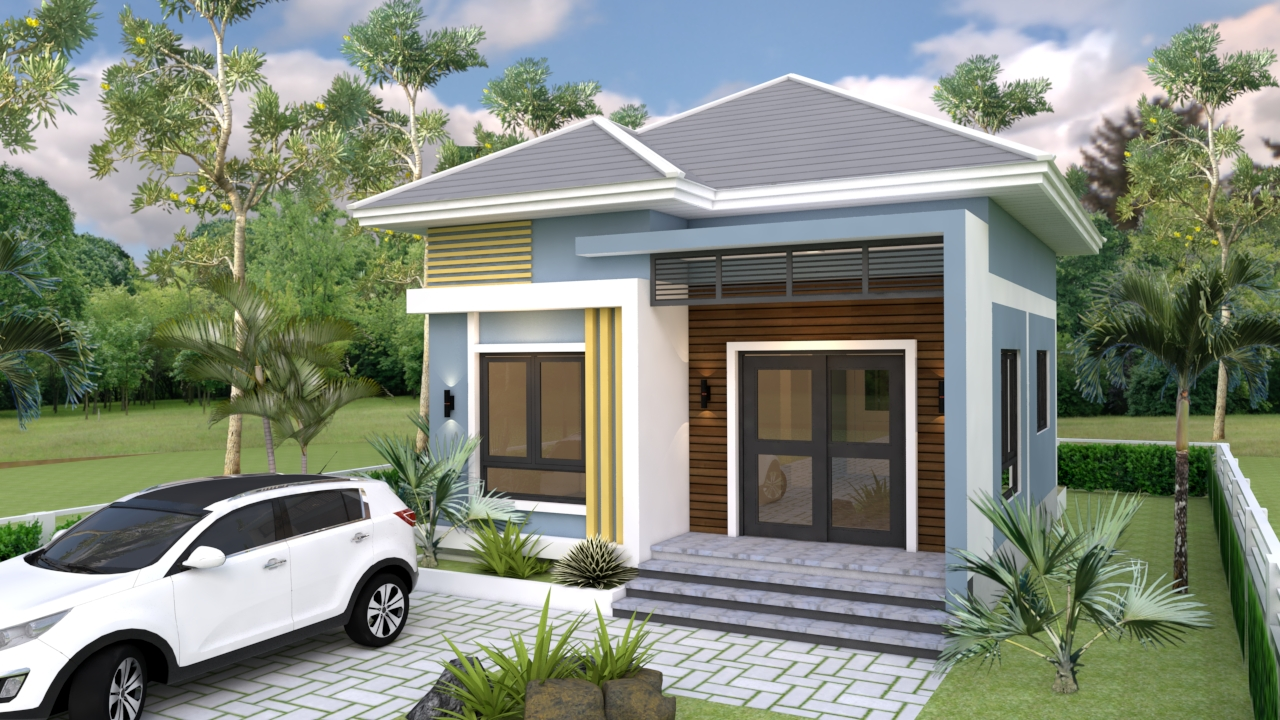 Small Mansion 6.5x8.5 Meter 22x28 Feet Hip roof 6