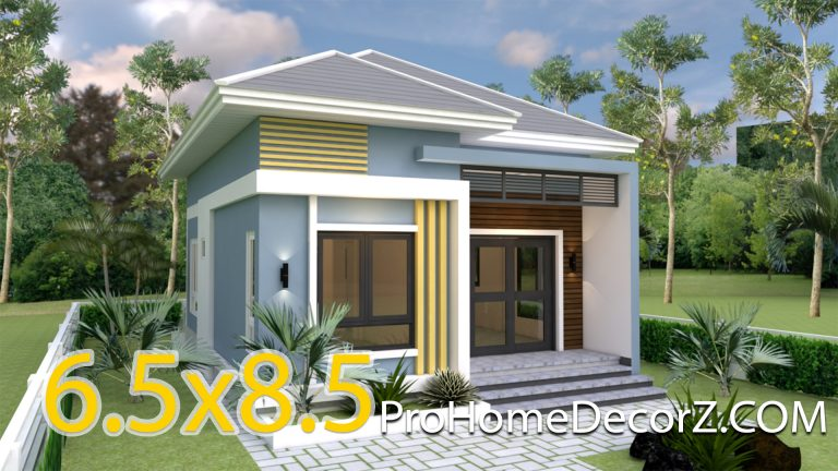 Small Mansion 6.5x8.5 Meter 22x28 Feet Hip roof