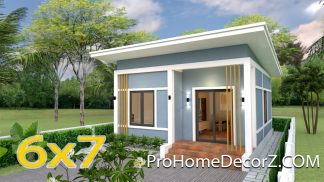 Small Modern Homes 6x7 Meter 20x23 Feet 2 Bedrooms