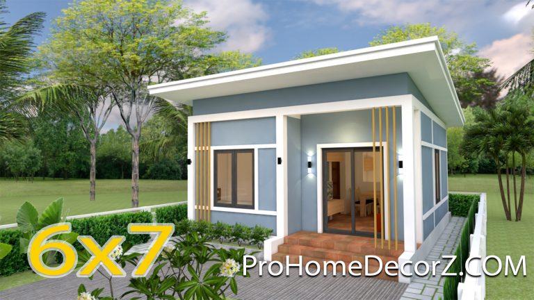 Small Modern Homes 6x7 Meter 20x23 Feet 2 Bedrooms