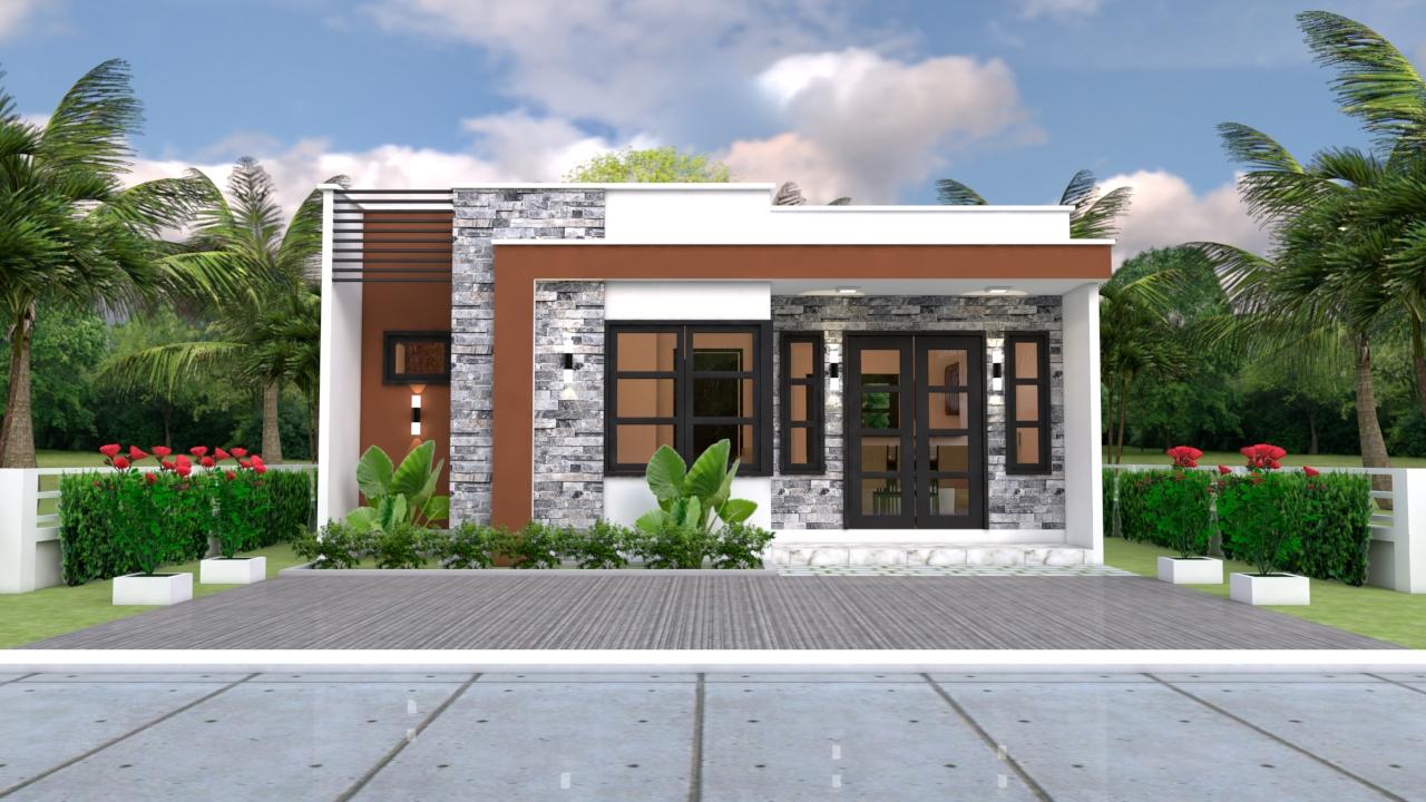 Small Villa Designs 8x11 Meter 26x36 Feet 3 Beds 1