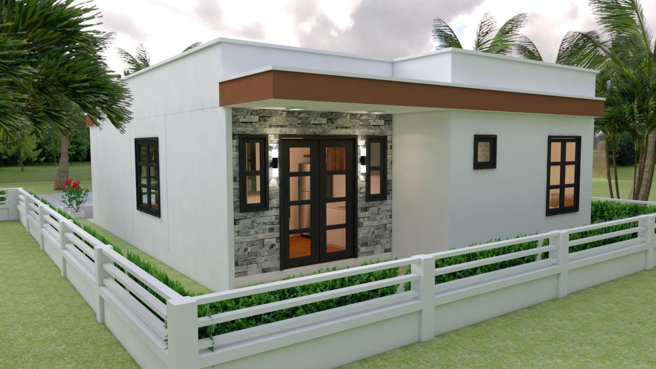 Small Villa Designs 8x11 Meter 26x36 Feet 3 Beds 3