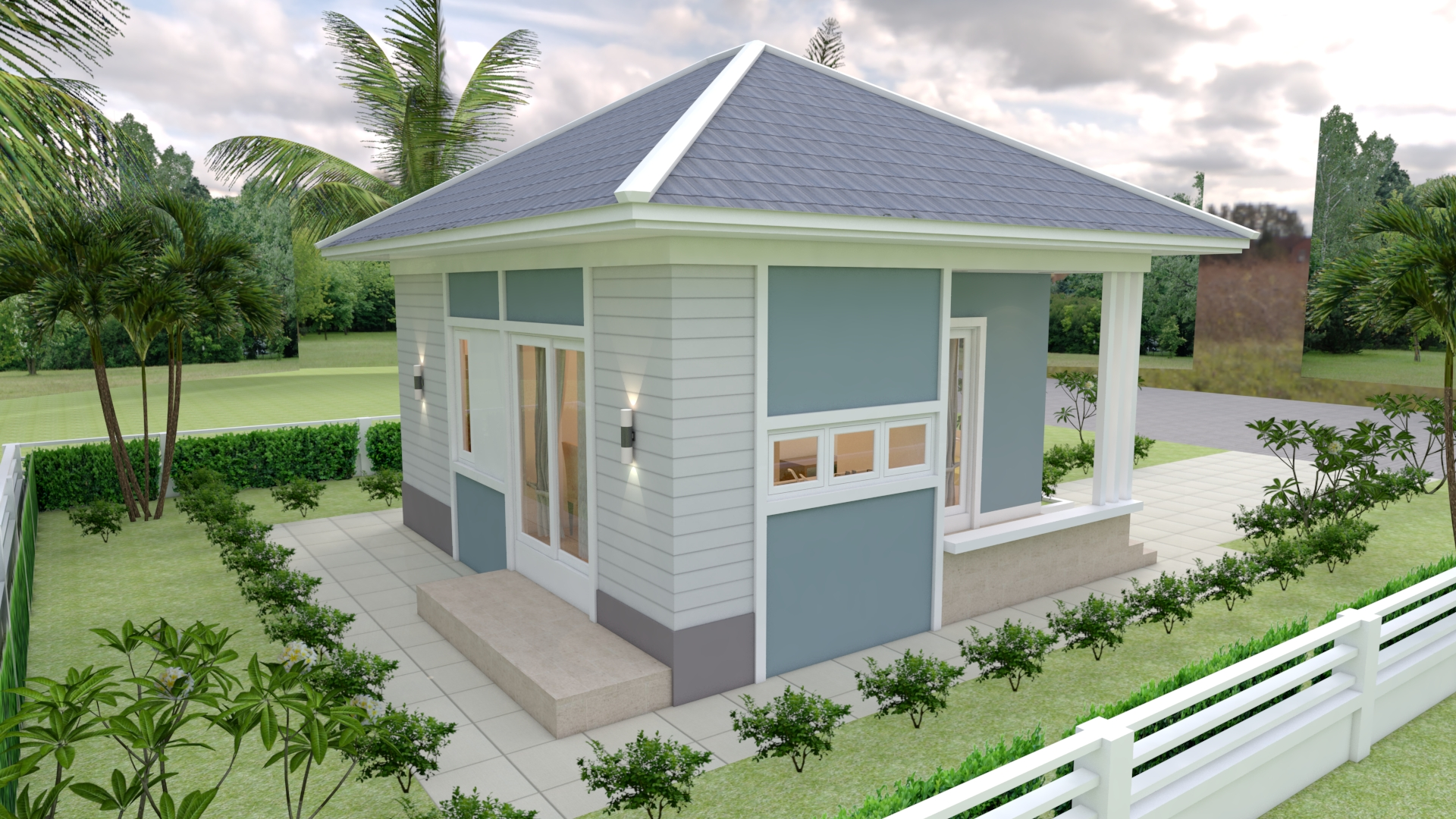 The Small Home 7x7 Meter 24x24 Feet 2 Beds 3