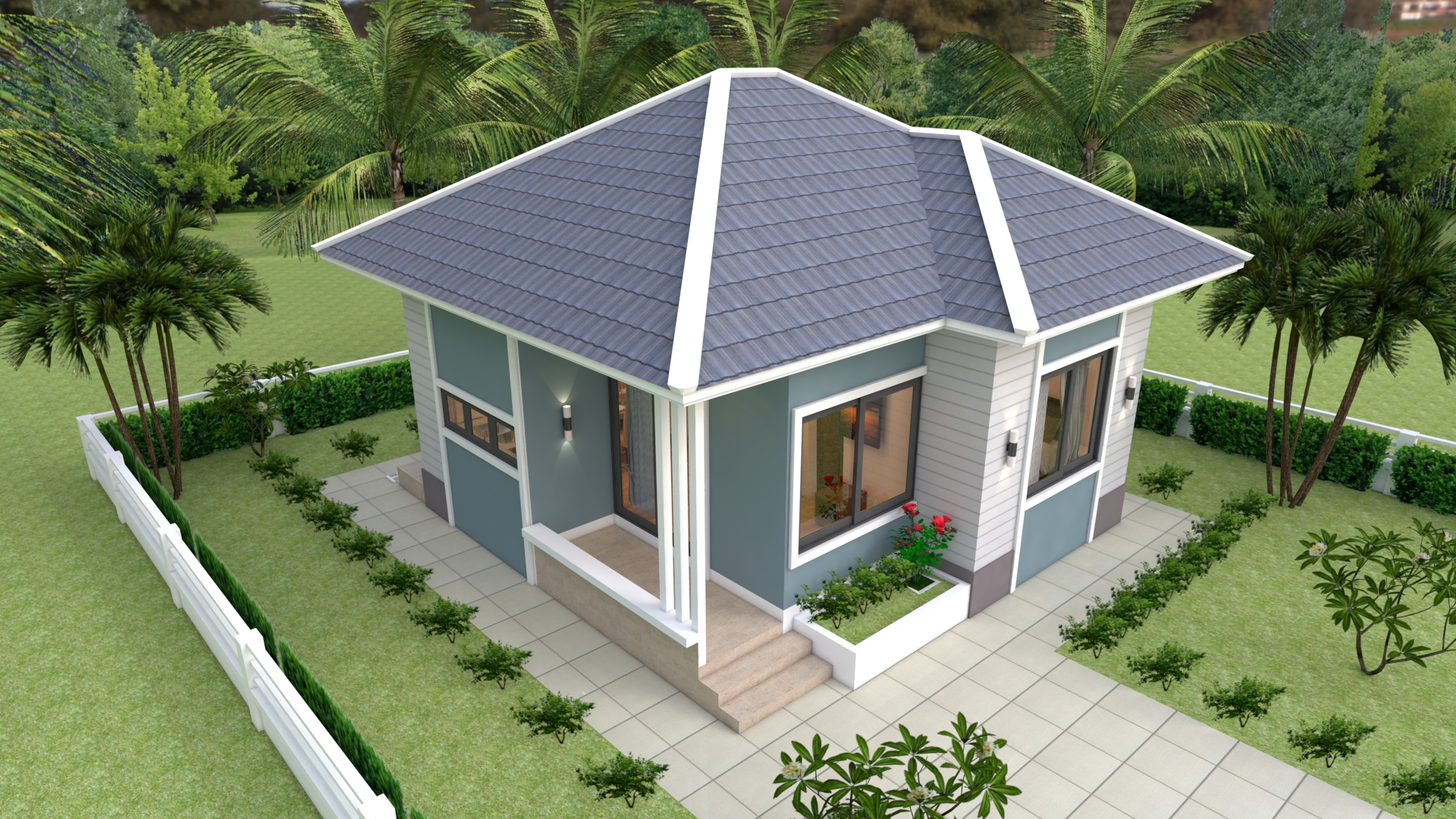 The Small Home 7x7 Meter 24x24 Feet 2 Beds 4