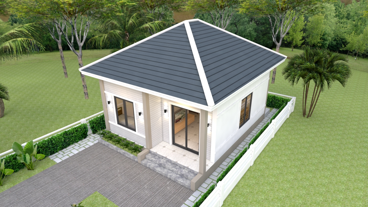 Tiny House Layout 6x7 Meter 20x23 Feet 2 Beds 1