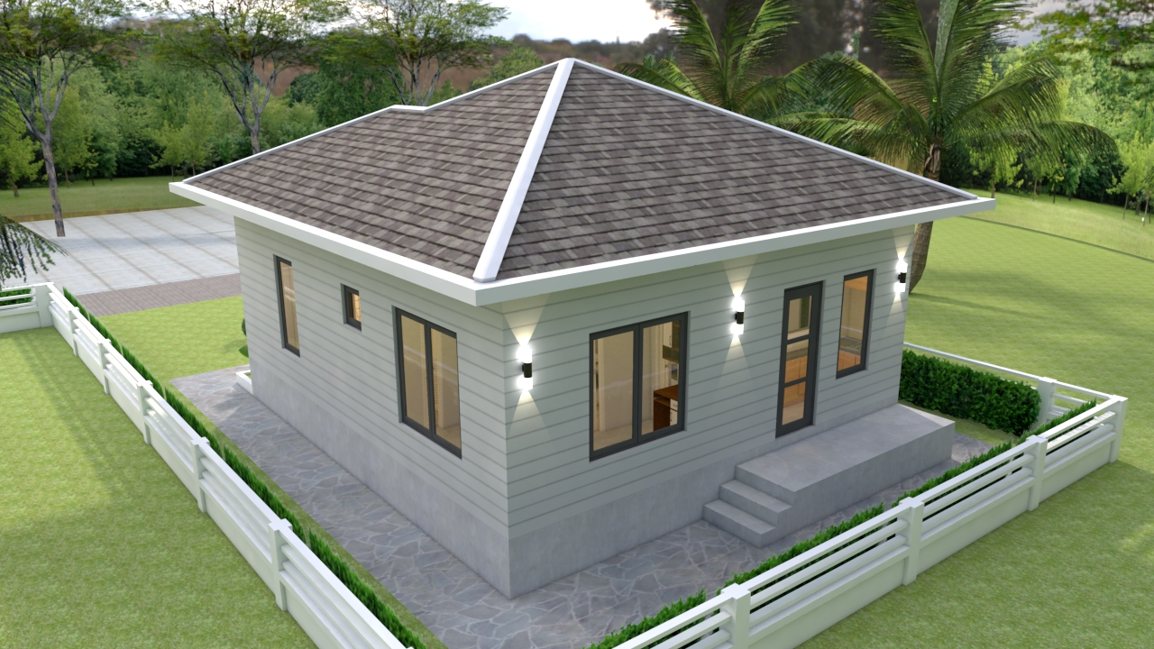 Two Bedroom Tiny House 7.5x8.5 Meter 25x29 Feet 3
