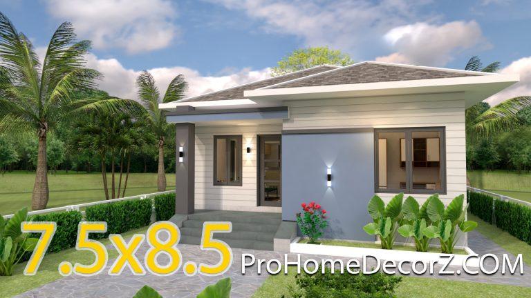 Two Bedroom Tiny House 7.5x8.5 Meter 25x29 Feet
