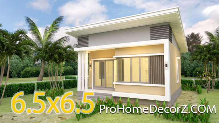 small modern house designs 21x21 Feet 6.5x6.5m Shed roof