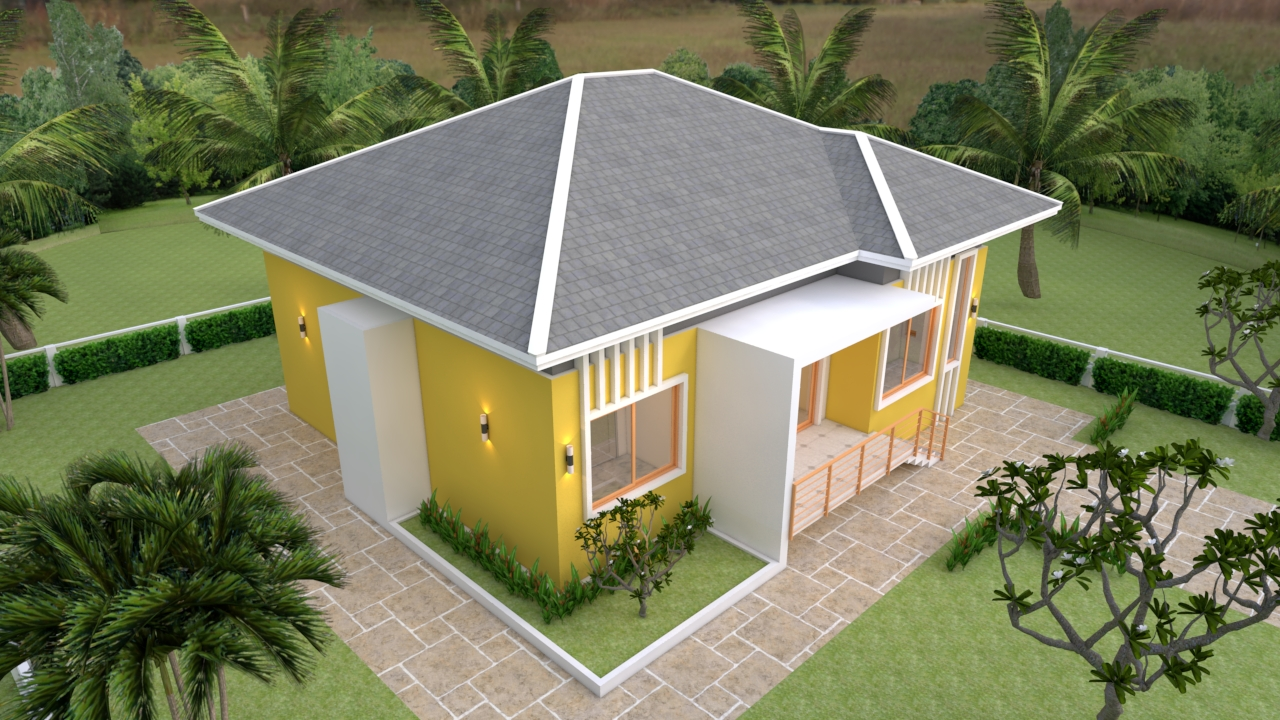 4 Bedroom House Plans 12x12 Meter 39x39 Feet 4