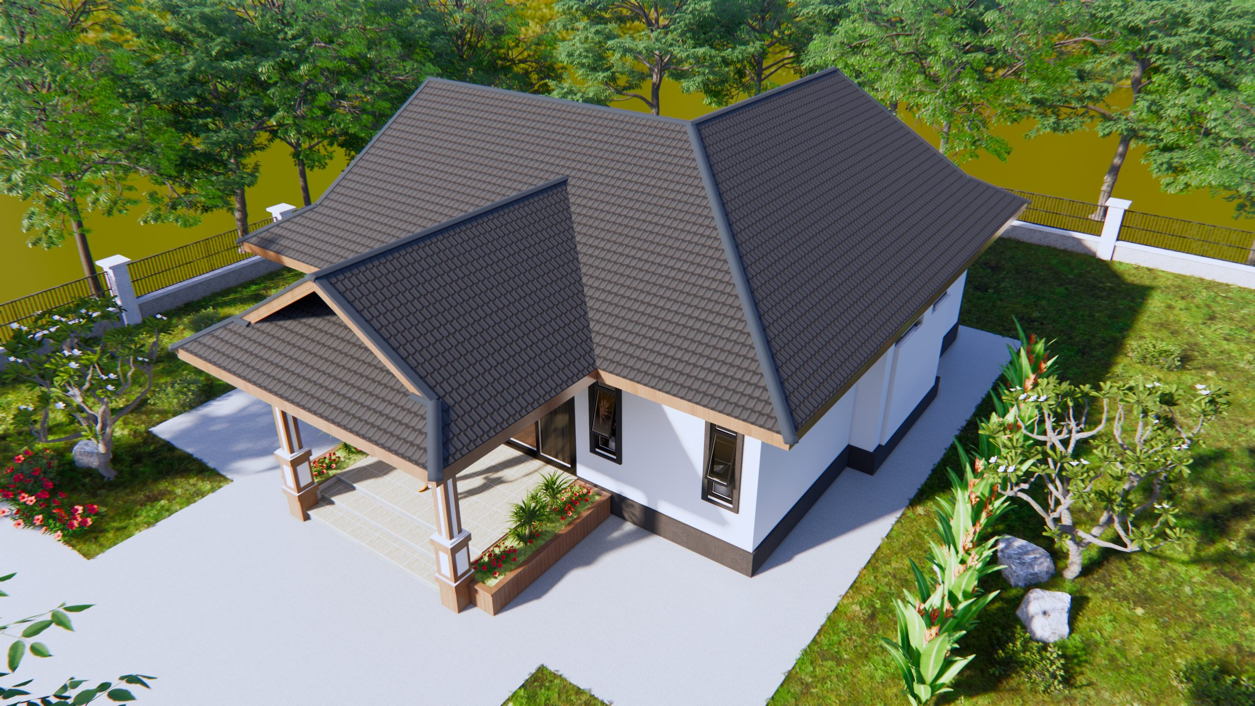 Cool Home Plans 11x14 Meters 36x46 Feet 3 Beds 3