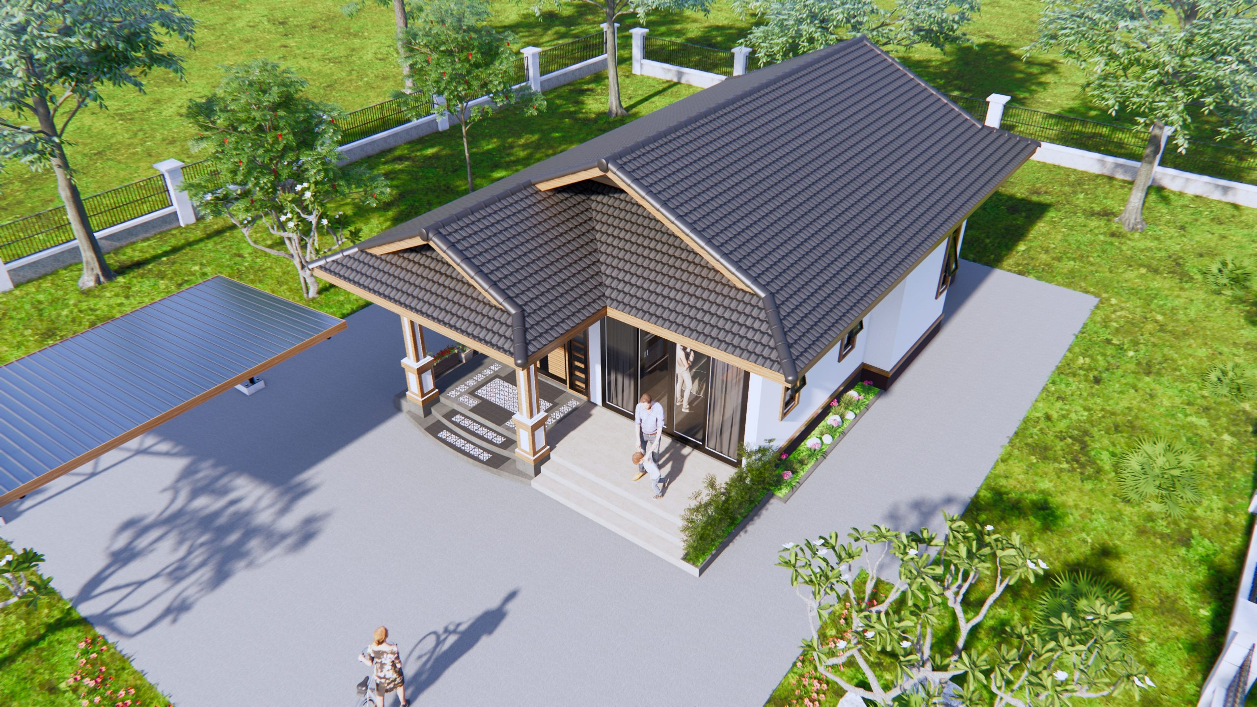 Cottage House Plans 8x12 Meter 26x40 Feet 2 Beds 2