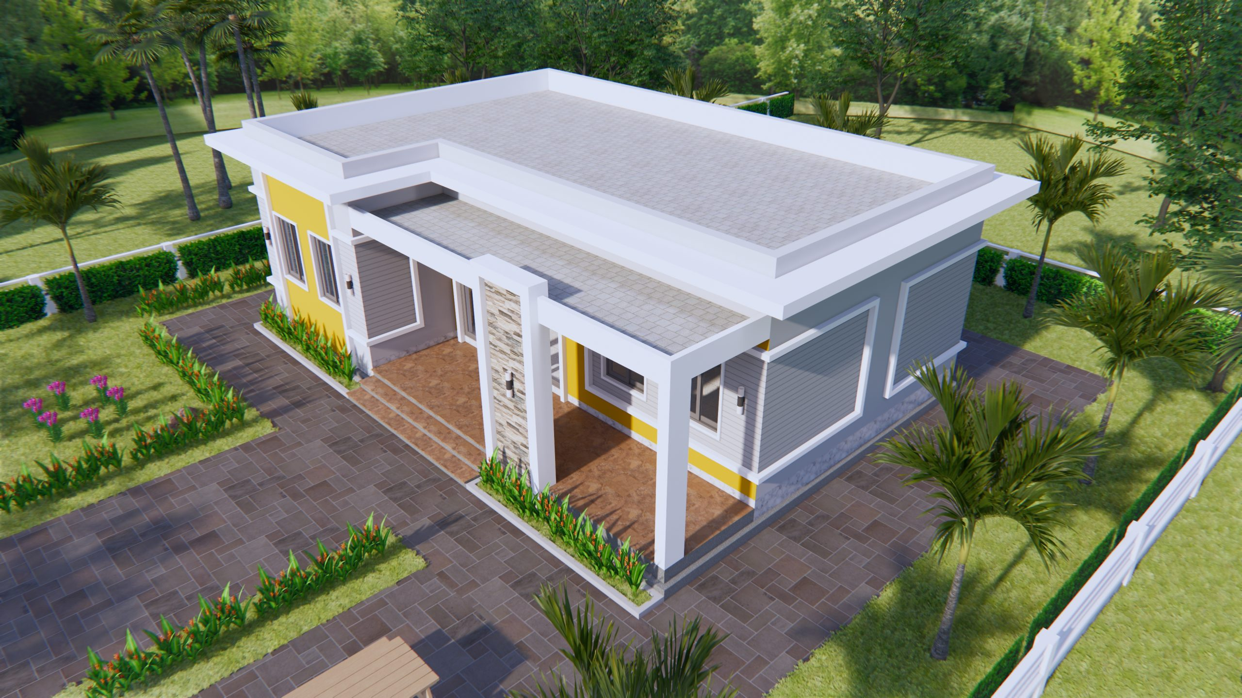 Home Layout Design 12x8 Meter 40x27 Feet 3 Beds 3