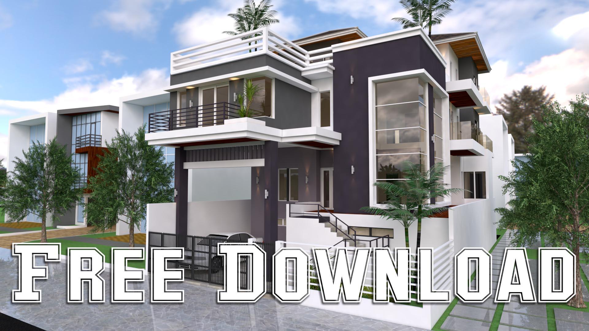 House Plans 12x20M 39x65F