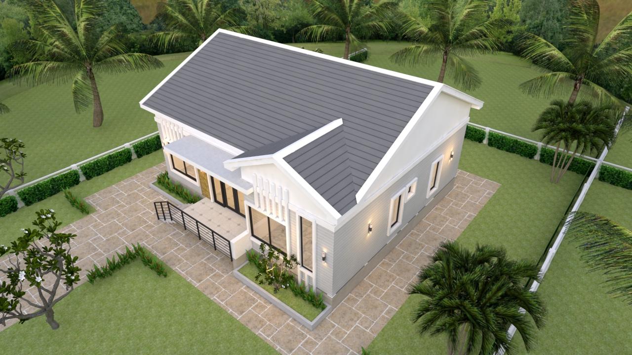 Modern Farmhouse Plans 12x12 Meter 39x39 Feet 4 Beds 4