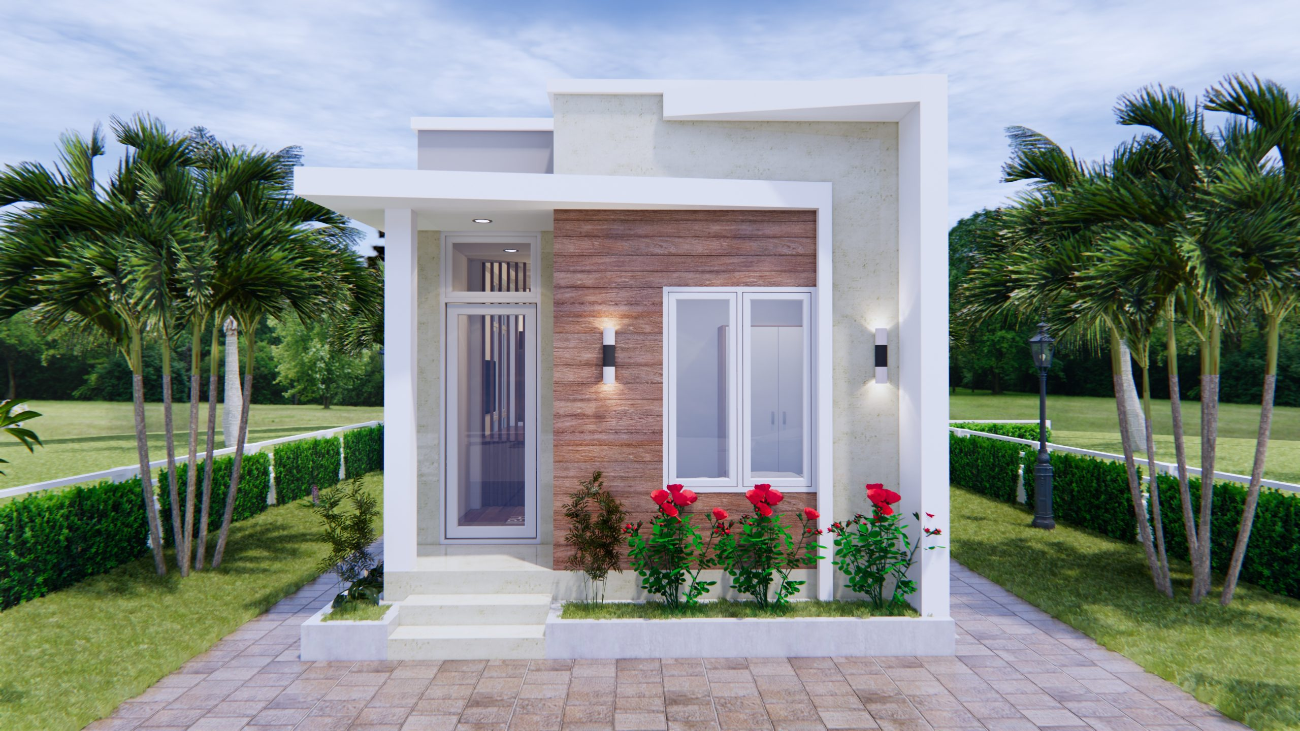 Modern Small House Design 44x9 Meter 13x30 Feet 2