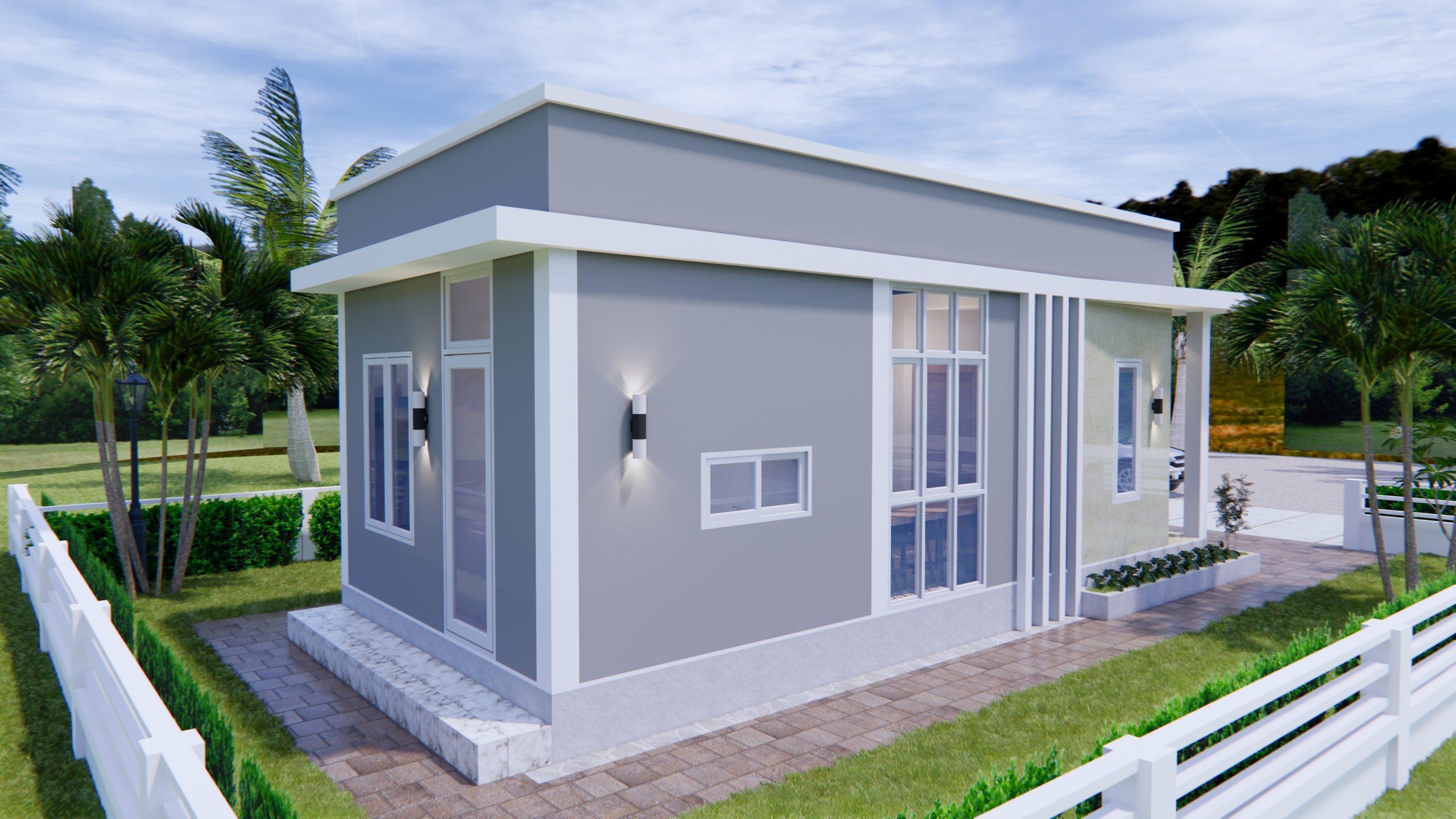 Modern Small House Design 44x9 Meter 13x30 Feet 3
