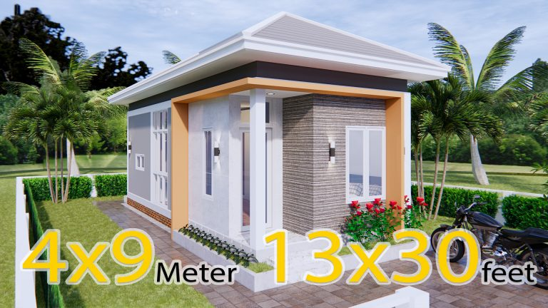 New Home Plans 4x9 Meter 13x30 Feet