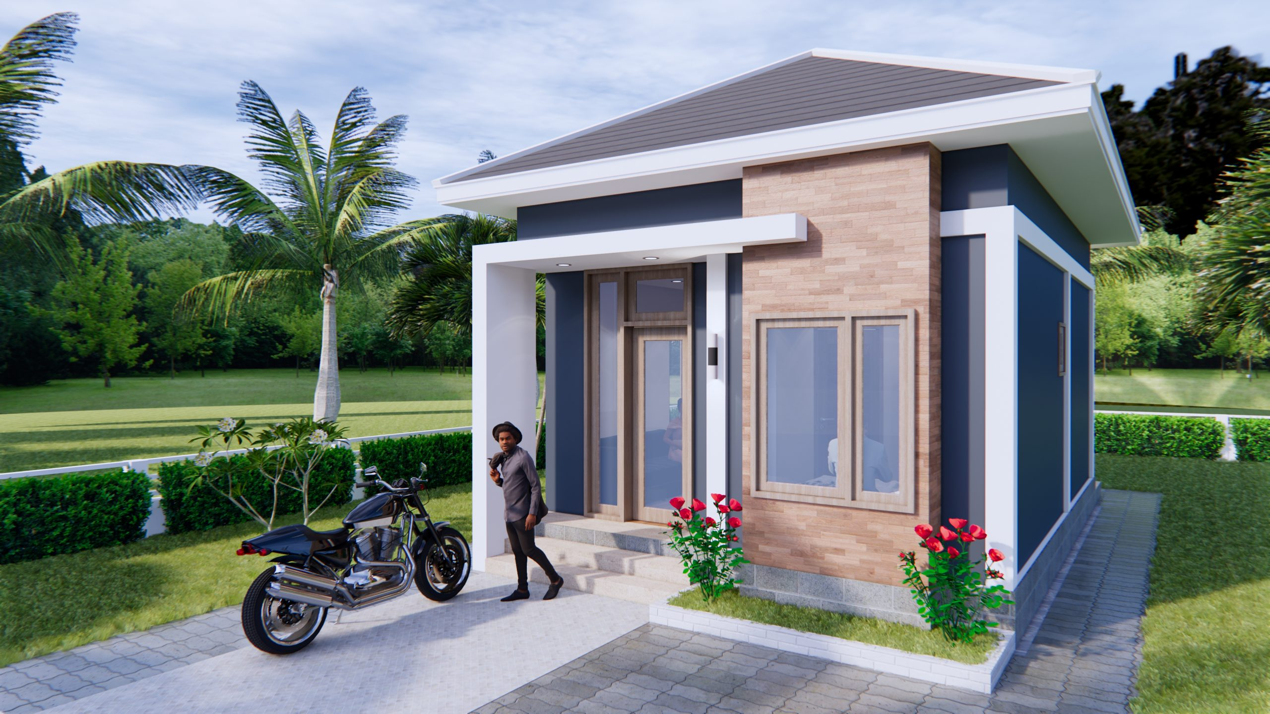New Small House Designs 5x7 Meters 16x23 Feet 2
