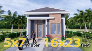New Small House Designs 5x7 Meters 16x23 Feet