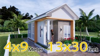 One Floor House Plans 4x9 Meter 13x30 Feet