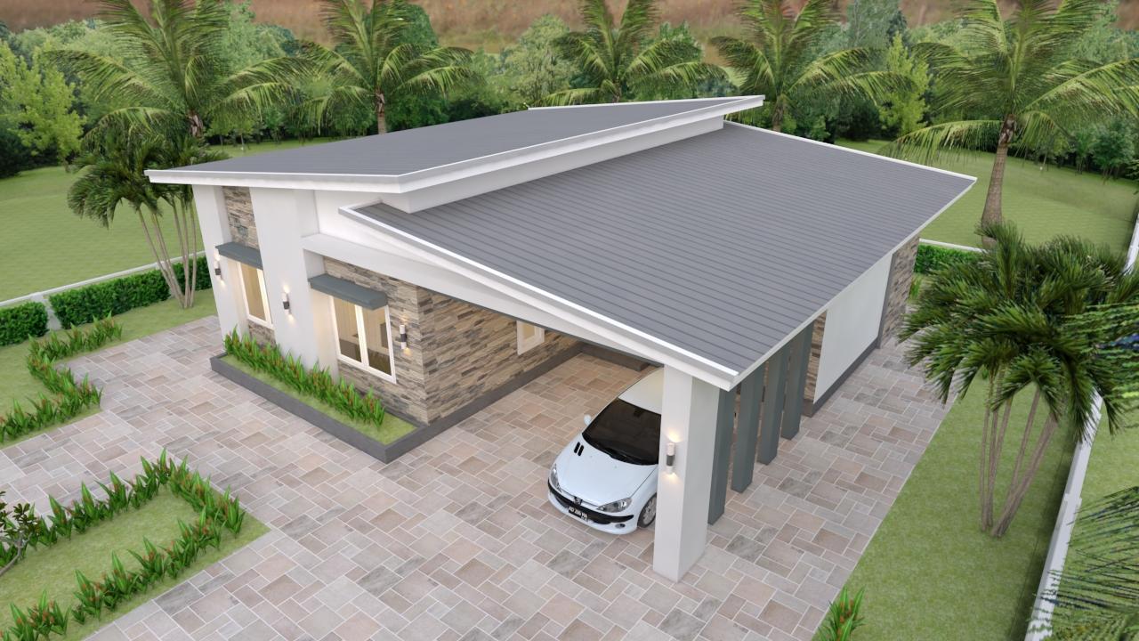 Single Floor House Plans 12x11 Meter 39x36 Feet 3 Beds 1