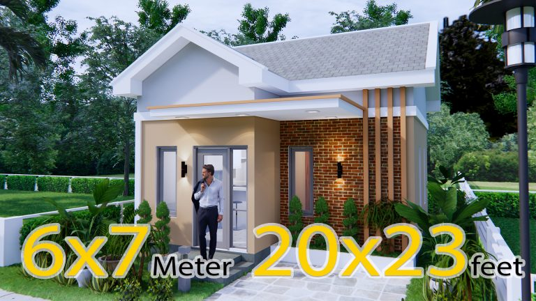 Small Brick Houses 6x7 Meter 20x23 Feet 2 Bed