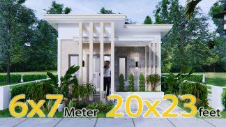 Small Budget Home 6x7Meter 20x23Feet 2 Beds