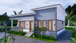1 Story Modern House 12x12 Meters 40x40 Feet 3 Beds 4