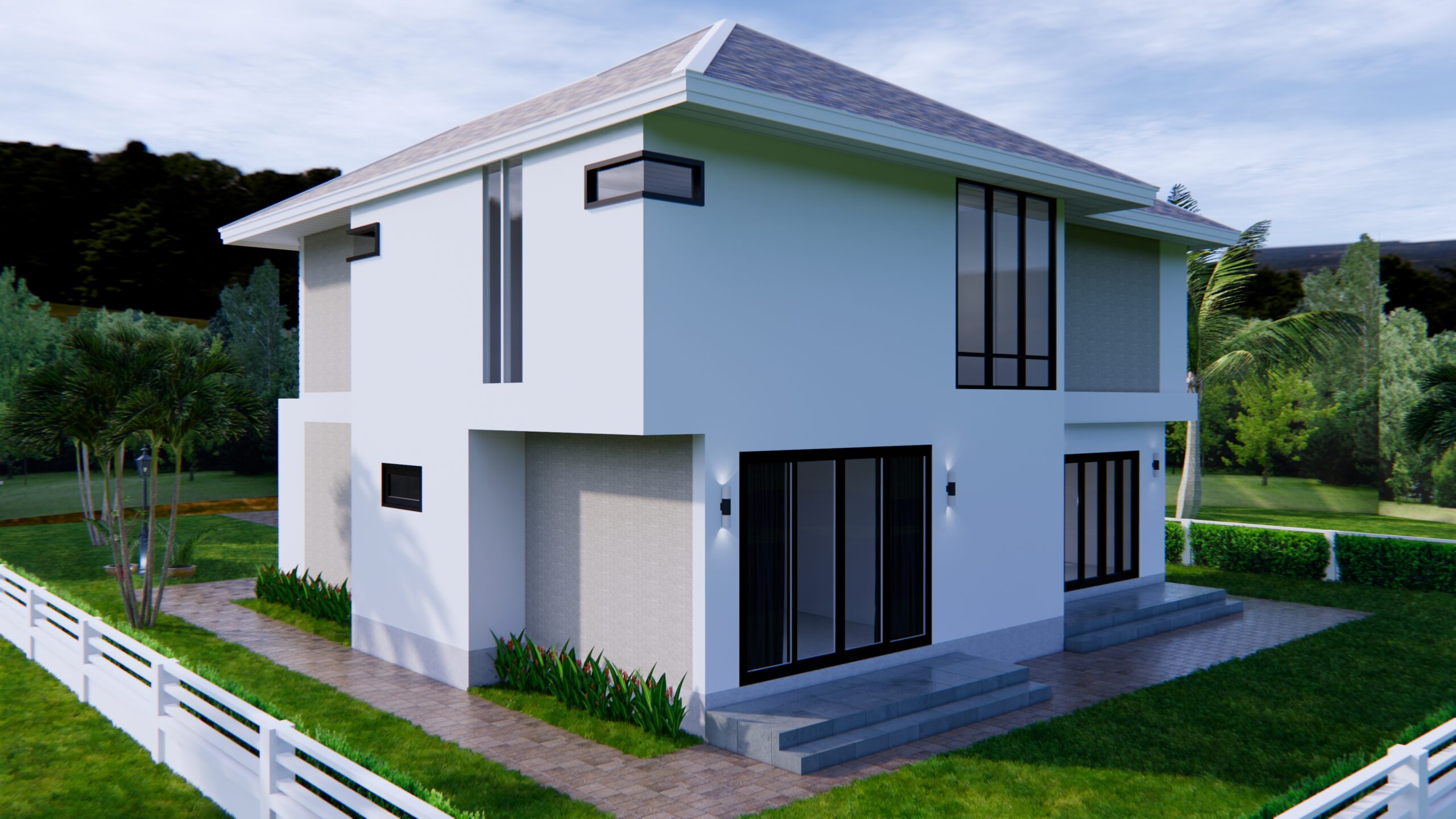 Home Designs 12.4x11 Meter 41x35 Feet 4 Beds 6