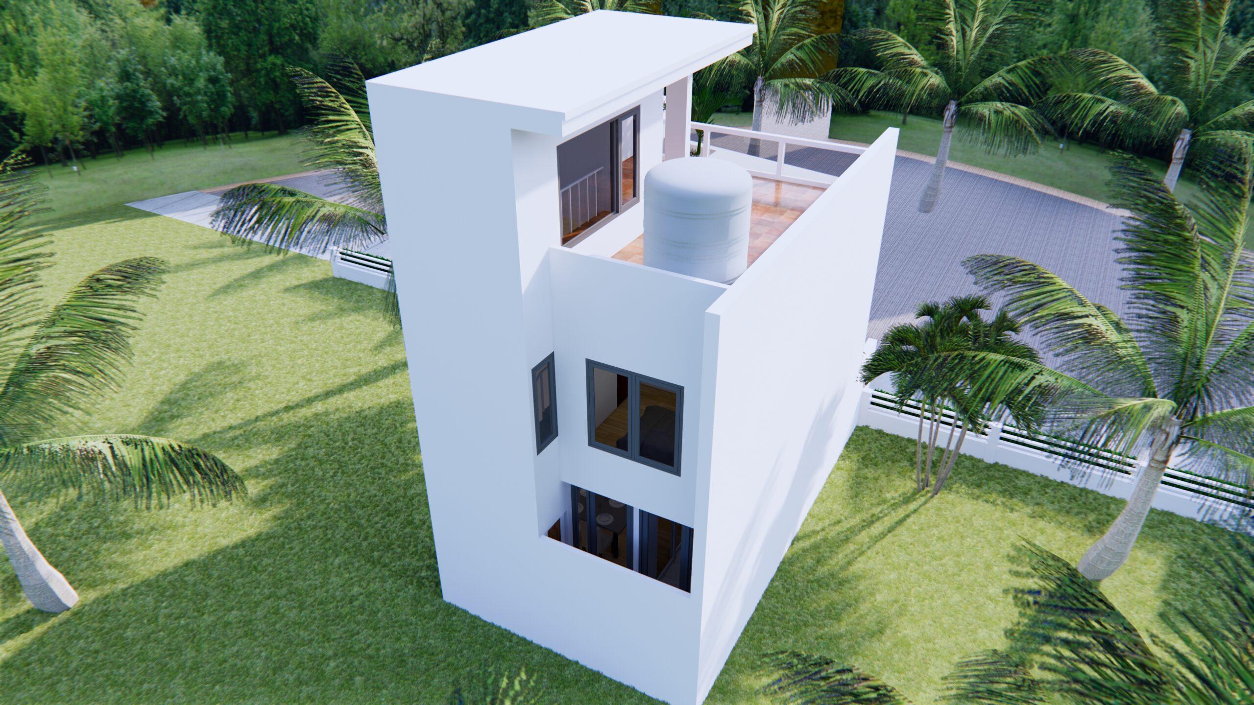 Home Designs 5x10 Meter 17x33 Feet 2 Beds 6