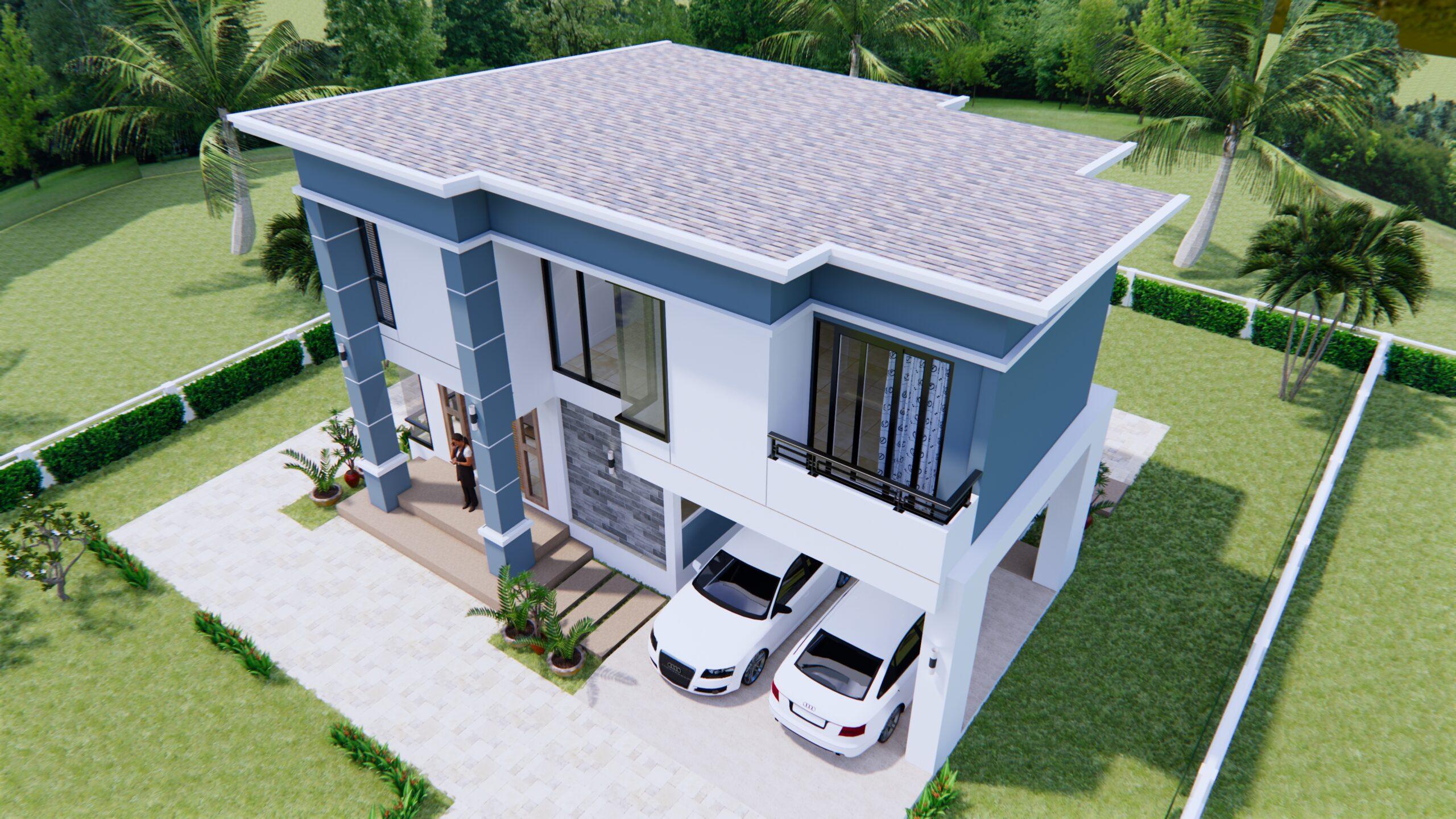 Home Plans 11x8 Meter 36x26 Feet 3 Beds 4