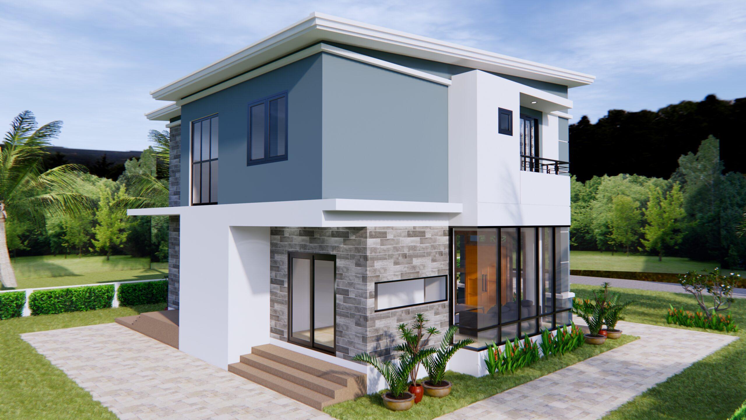 Home Plans 11x8 Meter 36x26 Feet 3 Beds 6