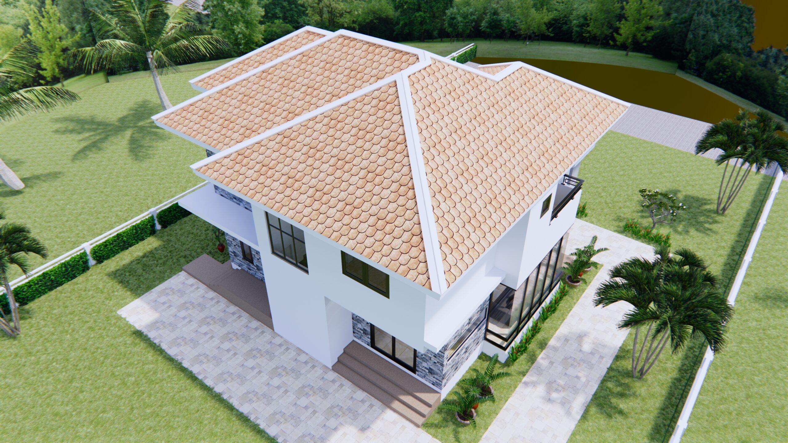 House Plans 11x8 Meter 36x26 Feet 3 Beds 5