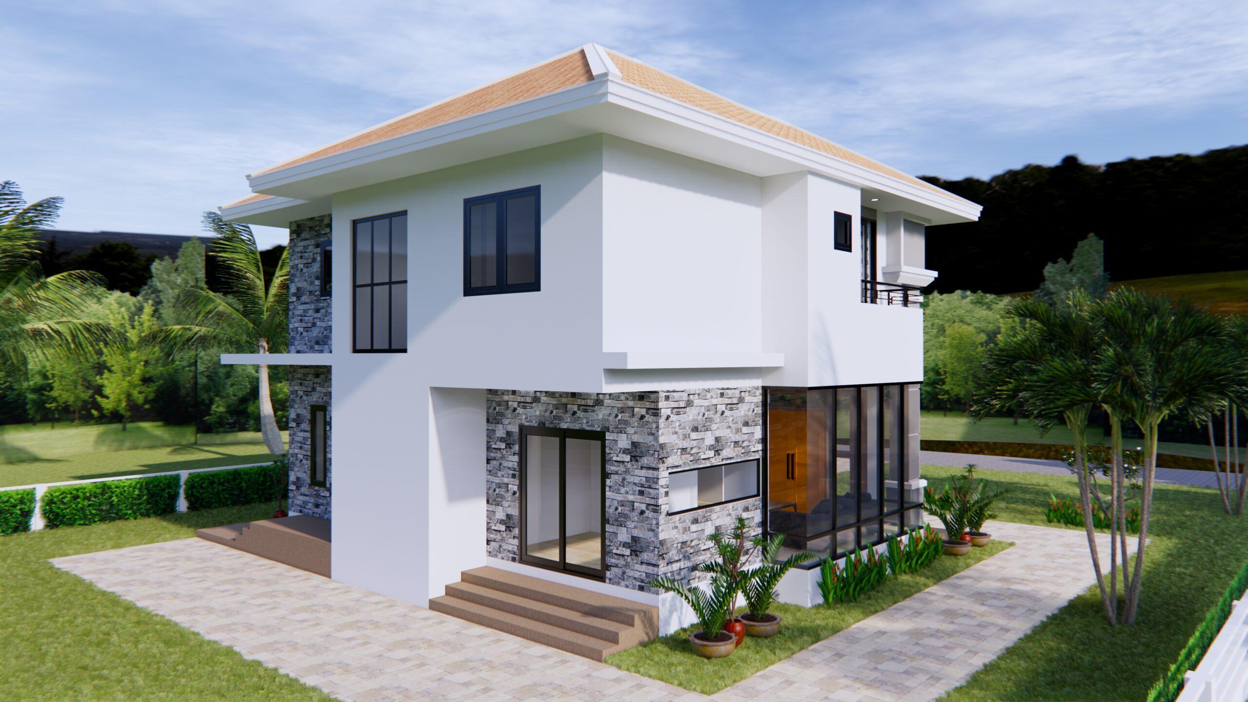 House Plans 11x8 Meter 36x26 Feet 3 Beds 6