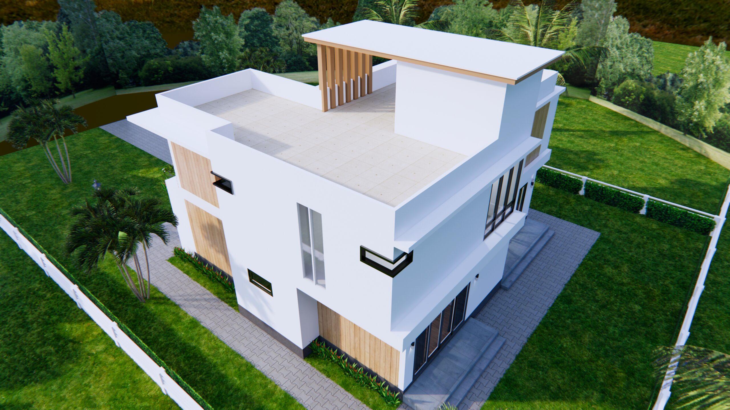 House Plans 12.4x11 Meter 41x35 Feet 4 Beds 7