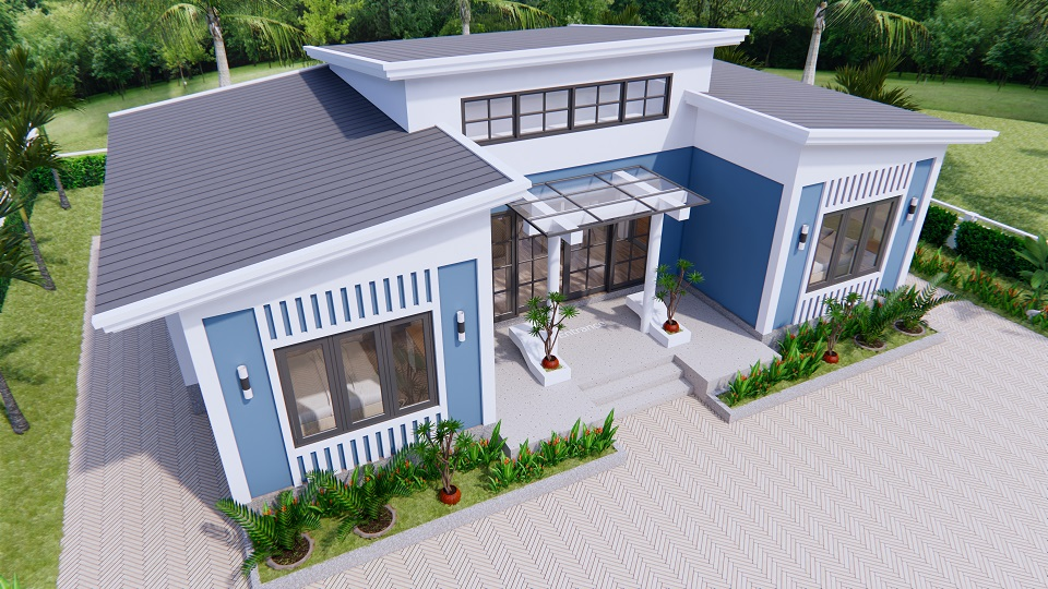 House Plans 13x7.5 Meter 43x25 Feet 3 Beds