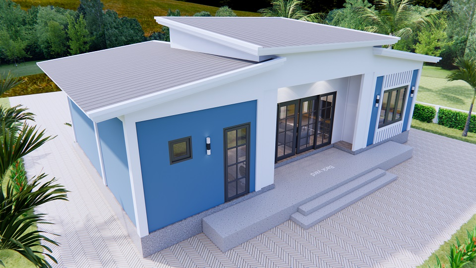 House Plans 13x7.5 Meter 43x25 Feet 3 Beds 5