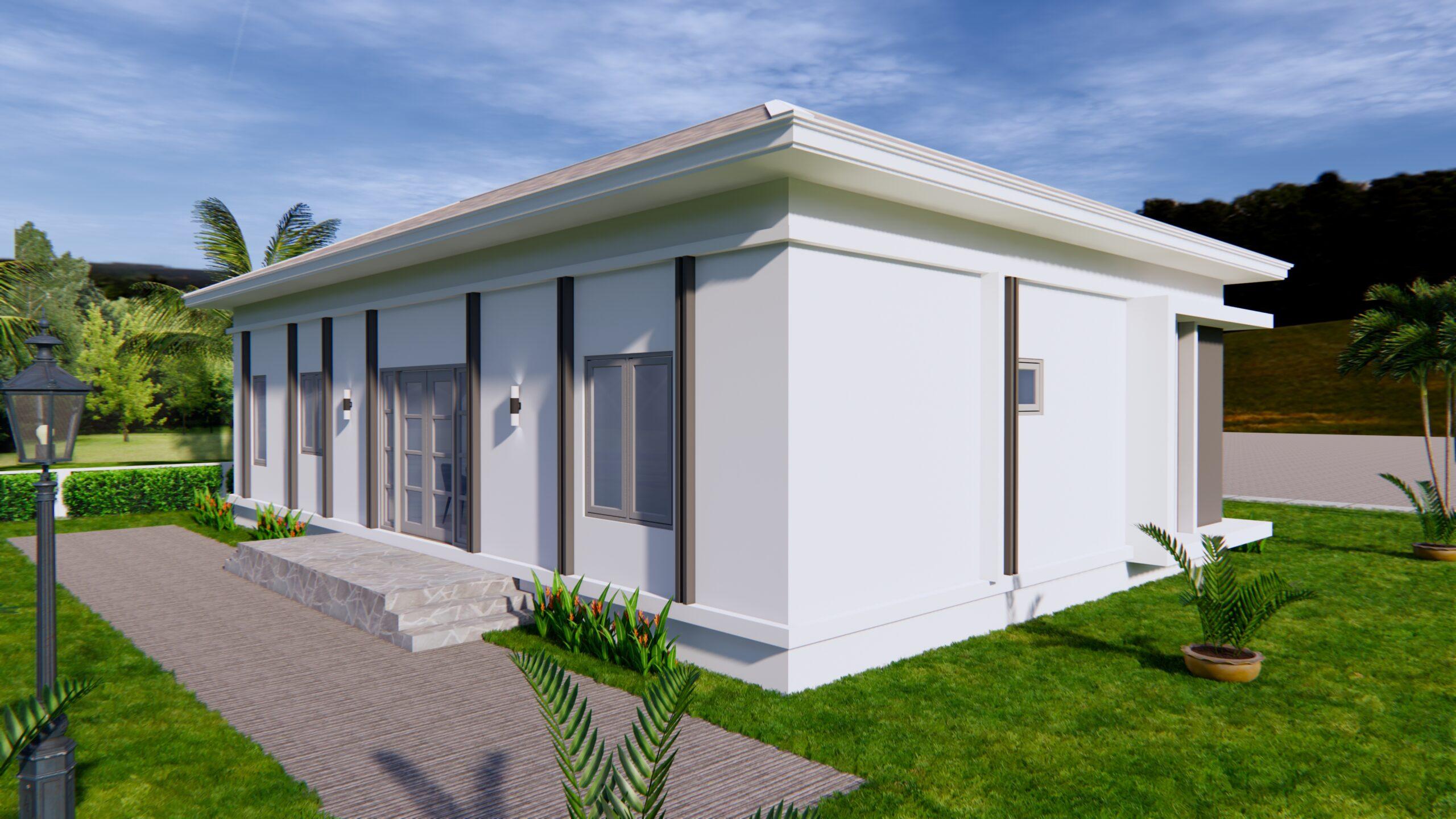 House Plans 14x11 Meter 46x36 Feet 3 Beds 6