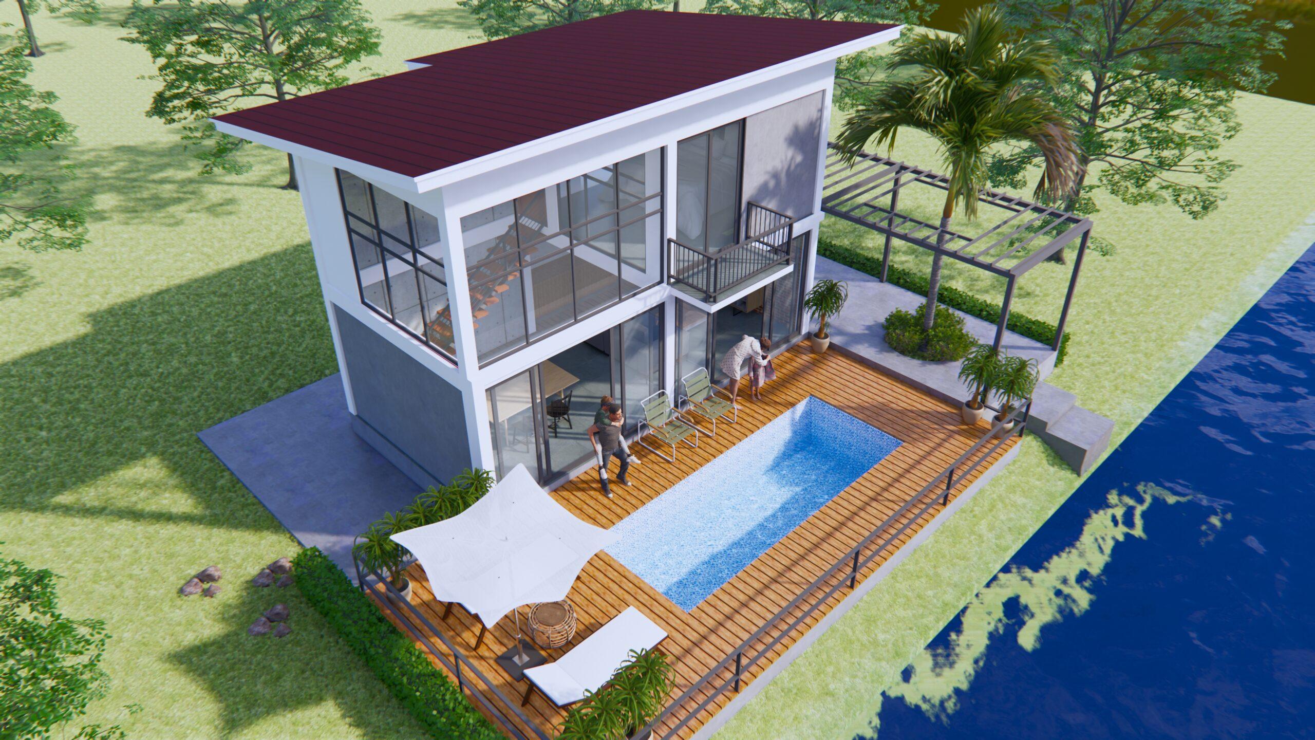 Lake House Plans 13x11 Meter 44x36 Feet 8