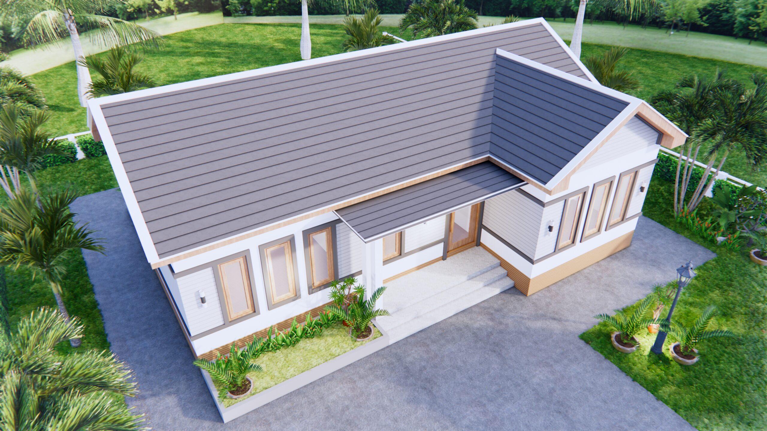 Luxury House Plans 12x8 Meters 40x26 Feet 3 Beds 4