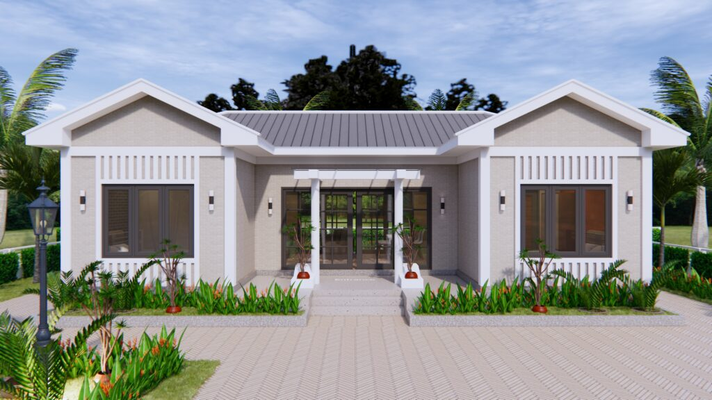 Modern Architecture Homes 13x7.5 Meter 43x25 Feet 3 Beds 6